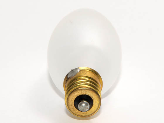 Bulbrite 401115 15CTF/25/3 15W 130V Frosted Blunt Tip Decorative Bulb, E12 Base