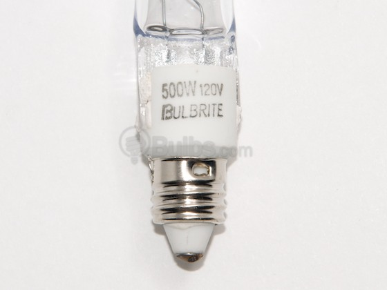 Bulbrite 610500 Q500CL/MC 500W 120V T4 Clear Halogen Mini Can Bulb