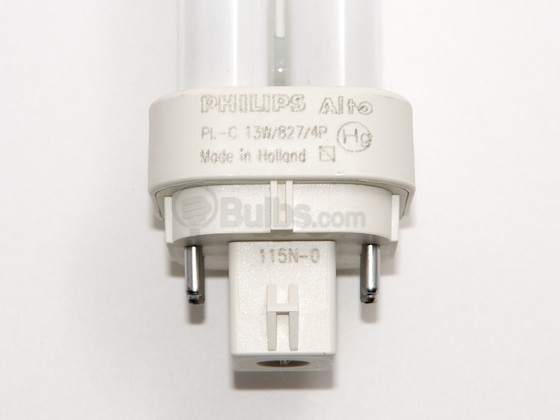 Philips Lighting 383257 PL-C 13W/827/4P/ALTO (4-Pin) Philips 13W 4 Pin G24q1 Very Warm White Double Twin Tube CFL Bulb