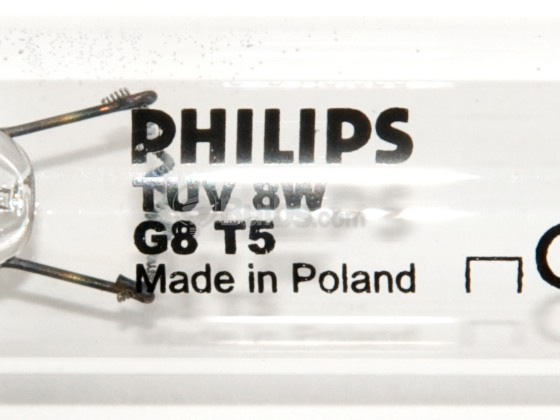 Philips Lighting 299305 TUV8T5 (G8T5) Philips 8W 12in T5 TUV Germicidal Fluorescent Tube