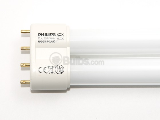 Philips Lighting 130344 PL-L 18W/10/4P Philips 18W 4 Pin 2G11 Black Light Long Single Twin Tube CFL Bulb