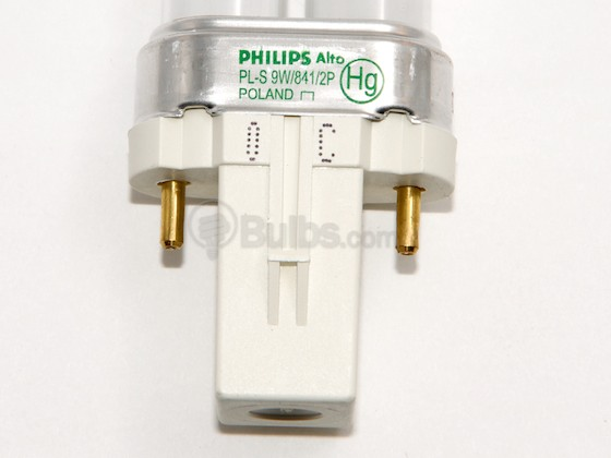 Philips Lighting 148700 PL-S 9W/841/2P/ALTO Philips 9W 2 Pin G23 Cool White Single Twin Tube CFL Bulb