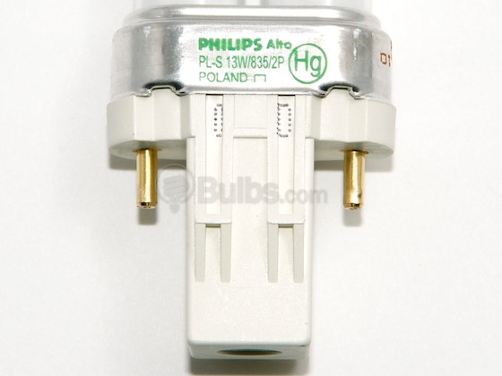 Philips Lighting 146845 PL-S 13W/835/2P/ALTO Philips 13W 2 Pin GX23 Neutral White Single Twin Tube CFL Bulb