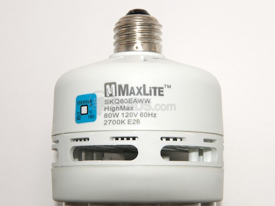 MaxLite M11275 SKQ80EAWW 80W Warm White Quintuple Twin Tube CFL Bulb, E26 Base