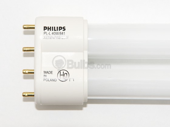 Philips Lighting 209155 PL-L 40W/841/XEW/4P/IS-25W Philips 25W 4 Pin 2G11 Cool White Long Single Twin Tube CFL Bulb
