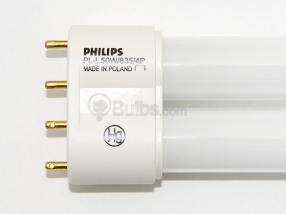 Philips Lighting 347534 PL-L 50W/35/RS  (4-Pin) Philips 50W 4 Pin 2G11 Neutral White Long Single Twin Tube CFL Bulb
