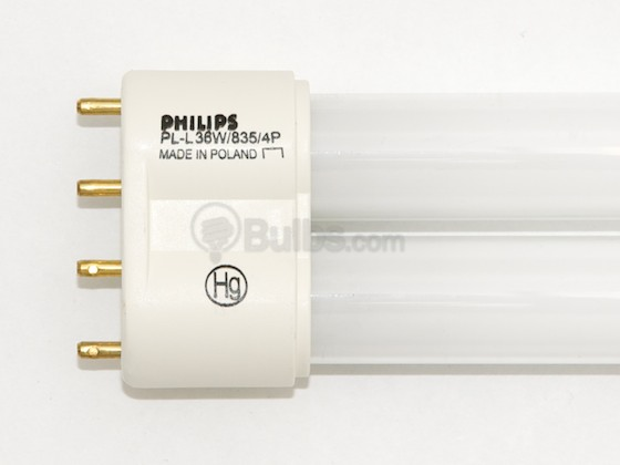 Philips Lighting 349423 PL-L 36W/35  (4-Pin) Philips 36W 4 Pin 2G11 Neutral White Long Single Twin Tube CFL Bulb