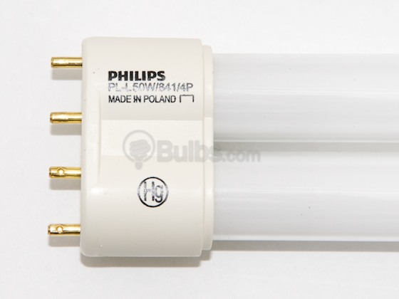 Philips Lighting 347708 PL-L 50W/41/RS (4-Pin) Philips 50W 4 Pin 2G11 Cool White Long Single Twin Tube CFL Bulb