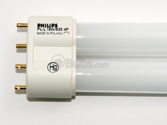 Philips Lighting 359323 PL-L 18W/35 (4-Pin) Philips 18W 4 Pin 2G11 Neutral White Long Single Twin Tube CFL Bulb