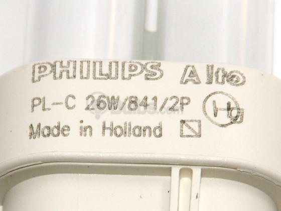 Philips Lighting 383240 PL-C 26W/841/ALTO (2-pin) Philips 26W 2 Pin G24d3 Cool White Double Twin Tube CFL Bulb