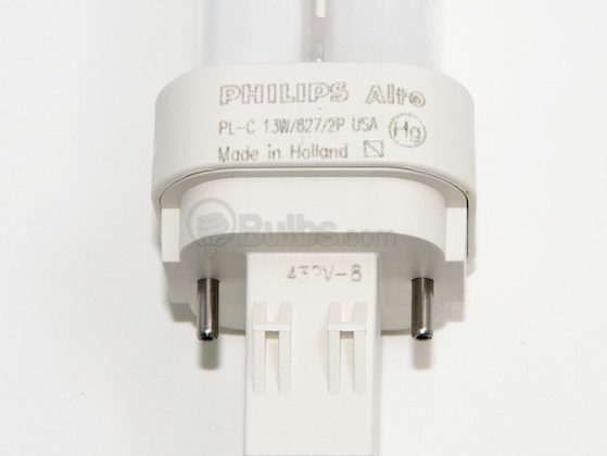 Philips Lighting 383109 PL-C 13W/827/USA/ALTO (2-Pin) Philips 13W 2 Pin GX232 Very Warm White Double Twin Tube USA CFL Bulb