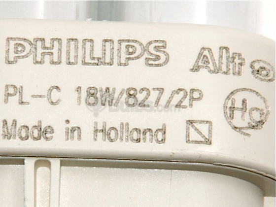 Philips Lighting 383166 PL-C 18W/827/ALTO (2-Pin) Philips 18W 2 Pin G24d2 Very Warm White Double Twin Tube CFL Bulb