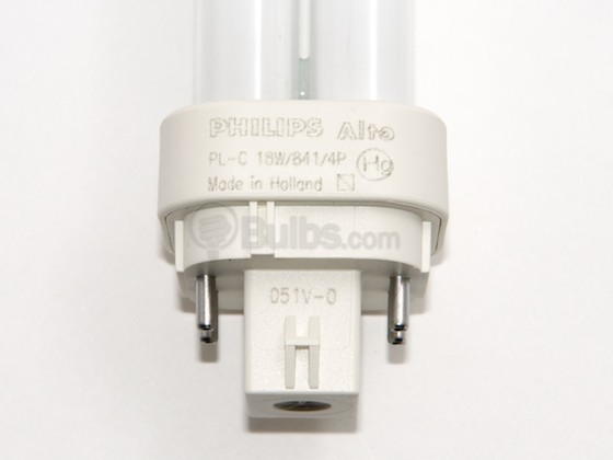 Philips Lighting 383331 PL-C 18W/841/4P/ALTO (4 Pin) Philips 18W 4 Pin G24q2 Cool White Double Twin Tube CFL Bulb