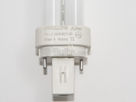 Philips Lighting 383216 PL-C 26W/827/ALTO (2-Pin) Philips 26W 2 Pin G24d3 Warm White Double Twin Tube CFL Bulb