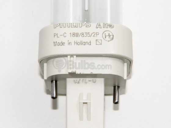 Philips Lighting 383182 PL-C 18W/835/ALTO (2 Pin) Philips 18W 2 Pin G24d2 Neutral White Double Twin Tube CFL Bulb
