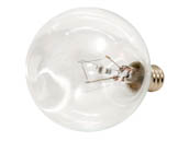 Bulbrite B461215 KR15G16CL 15W Clear Krypton G16 Decorative Bulb, E12 Base