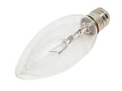 Bulbrite B460020 KR25CTC/25 25W 120V Clear Krypton Blunt Tip Decorative Bulb, E12 Base