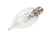 Bulbrite B460320 KR25CFC/25 25W 120V Clear Krypton Bent Tip Decorative Bulb, E12 Base