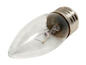 Bulbrite B460525 KR25ETC/32 25W 120V Clear Krypton Blunt Tip Decorative Bulb, E26 Base