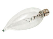 Bulbrite B460340 KR40CFC/32 40W 120V Clear Krypton Bent Tip Decorative Bulb, E12 Base