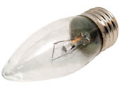 Bulbrite B460540 KR40ETC/32 40W 120V Clear Krypton Blunt Tip Decorative Bulb, E26 Base