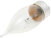Philips Lighting 168195 BC-25BA9-1/2/CL/LL   (120V) Philips 25W 120V Clear Bent Tip Long Life Decorative Bulb, E26 Base