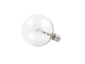 Philips Lighting 168450 25G16-1/2C/CL/LL (120V) Philips 25W 120V G16 Clear Globe Bulb, E12 Base
