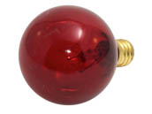Bulbrite B306010 10G12R (130V, Transparent Red) 10W 130V G12 Red Globe Bulb, E12 Base