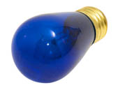 Bulbrite B701311 11S14/TB (Trans. Blue) 11W 130V S14 Transparent Blue Sign or Indicator Bulb, E26 Base