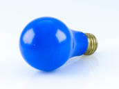 Bulbrite B106360 60A/CB (Blue) 60W A19 Bulb, E26 Base Blue - Availability for Public Safety Events