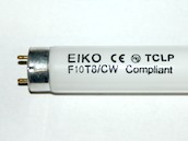 Eiko W-F10T8/CW F10T8/CW 10W 13.5in T8 Cool White Fluorescent Tube