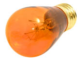 Bulbrite B701211 11S14TA (Trans. Amber) 11W 130V S14 Transparent Amber Sign or Indicator Bulb, E26 Base