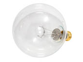 Bulbrite B351150 150G40CL (125V) 150W 125V G40 Clear Long Life Globe Bulb, E26 Base