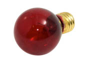 Bulbrite B702710 10S11TR (Trans. Red) 10W 130V S11 Transparent Red Sign or Indicator Bulb, E17 Base