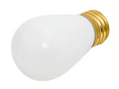 Bulbrite B701011 11S14W (White) 11W 130V S14 White Sign or Indicator Bulb, E26 Base