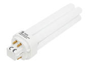GE GE12869 F18DBX/SPX35/4PL (4-Pin) 18W 4 Pin G24q2 Neutral White Double Twin Tube CFL Bulb