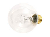 Bulbrite B331040 40G25CL3 (130V) 40W 130V G25 Clear Globe Bulb, E26 Base