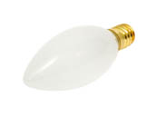 Bulbrite B401425 25CTF/E14 (Euro. Base) 25W 130V Frosted Blunt Tip Decorative Bulb, European E14 Base