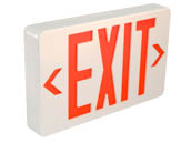 TCP TEC22743 TCP 22743 Exit Plastic 120 to 277V Single or Double Sided LED Exit Sign Battery Back up