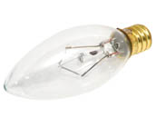 Bulbrite B490140 40CTC/25/2 40W 120V SHORT Clear Blunt Tip Decorative Bulb, E12 Base