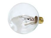 Halco Lighting HAL4002 G16CL25 (25W, 130V, Clear) Halco 25W 130V G16 Clear Globe Bulb, E12 Base