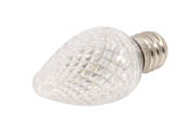 Bulbrite B770171 LED/C7C (Clear) 0.6W Clear C7 Holiday LED Bulb