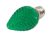 Bulbrite B770174 LED/C7G (Green) 0.35W Green C7 Holiday LED Bulb
