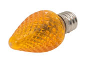 Bulbrite B770175 LED/C7O (Orange) 0.60W Orange C7 Holiday LED Bulb