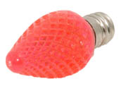 Bulbrite B770176 LED/C7P (Pink) 0.6W Pink C7 Holiday LED Bulb