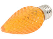 Bulbrite B770195 LED/C9O (Orange) 0.6W Orange C9 Holiday LED Bulb