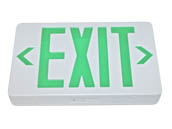 TCP TEC22745 TCP 22745 Exit Plastic 120 to 277V Single or Double Sided LED Exit Sign Battery Back up