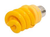 TCP TEC48913Y 48913Y  (13W, Bug Light) 13W Yellow Spiral CFL Bug Bulb, E26 Base