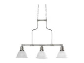Progress Lighting P4282-09 Three-Light Reversible Linear Chandelier Fixture, Madison Collection, Brushed Nickel