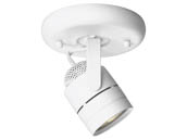 Progress Lighting P6146-30WB One-Light Ceiling Mount Pinhole Back Directional Light Fixture, White